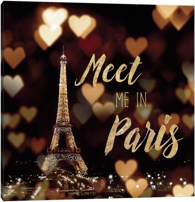 Meet Me In Paris Canvas Art Print