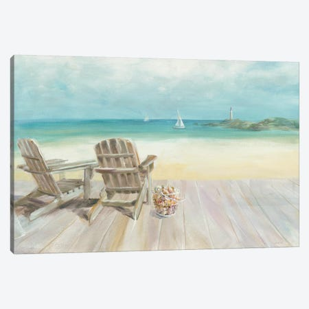 Seaside Morning No Window Canvas Print #WAC4055} by Danhui Nai Canvas Print