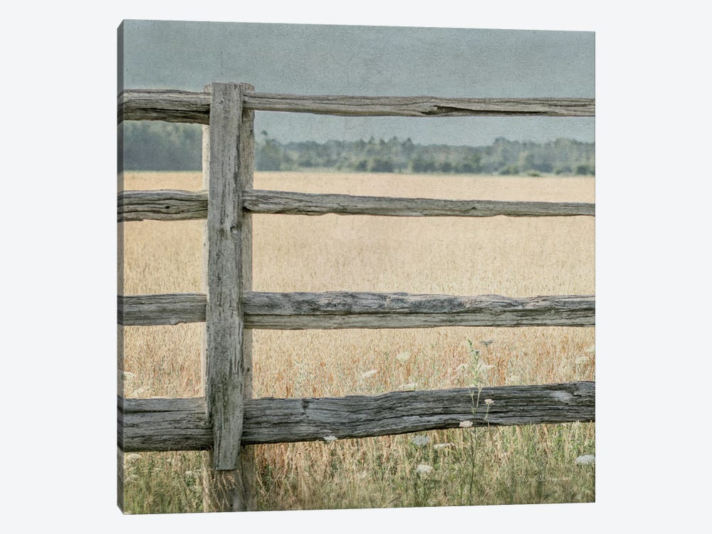 Neutral Country I Crop by Elizabeth Urquhart 1-piece Canvas Art Print