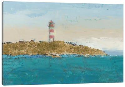 Lighthouse Seascape I Crop II Canvas Print #WAC4060