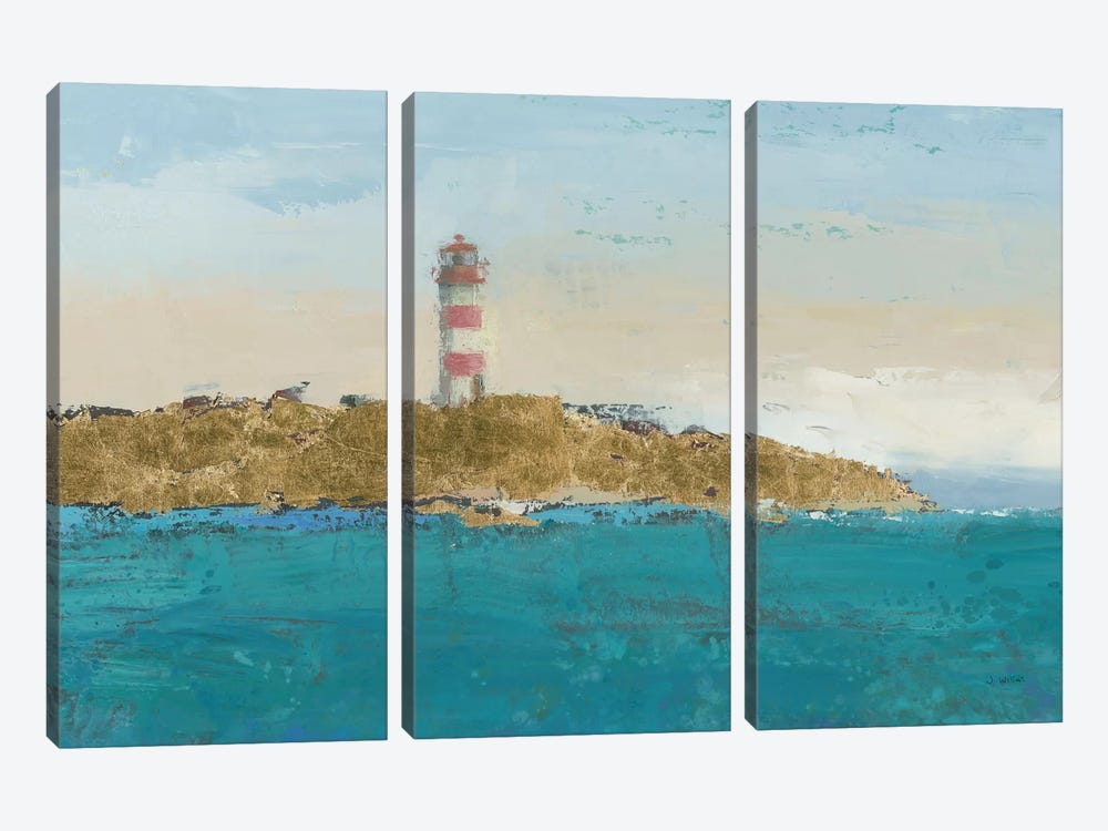 Lighthouse Seascape I Crop II 3-piece Canvas Artwork