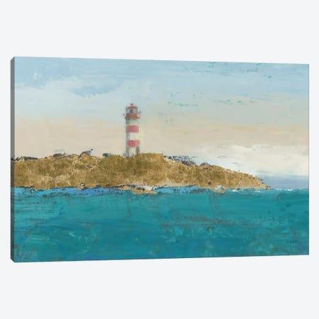 Lighthouse Seascape I Crop II 3-Piece Canvas #WAC4060} by James Wiens Canvas Print