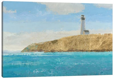 Lighthouse Seascape II Crop II Canvas Art Print
