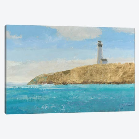 Lighthouse Seascape II Crop II 3-Piece Canvas #WAC4061} by James Wiens Canvas Print