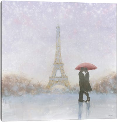 Eiffel Romance Canvas Art Print