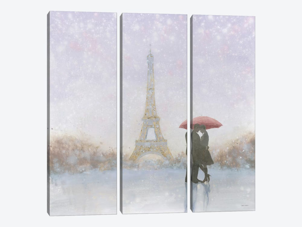 Eiffel Romance by Marco Fabiano 3-piece Canvas Wall Art