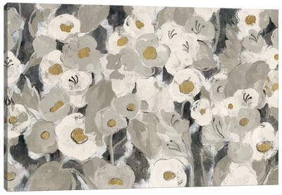 Velvety Florals Neutral I by Silvia Vassileva Canvas Art Print