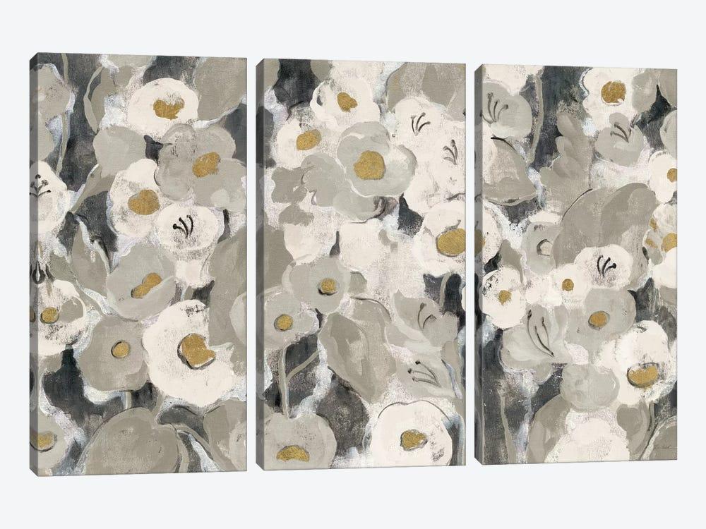 Velvety Florals Neutral I by Silvia Vassileva 3-piece Canvas Art Print