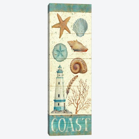Pastel Coast Panel I  Canvas Print #WAC407} by Daphne Brissonnet Canvas Art Print