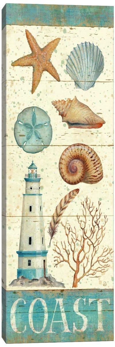 Pastel Coast Panel I  Canvas Print #WAC407