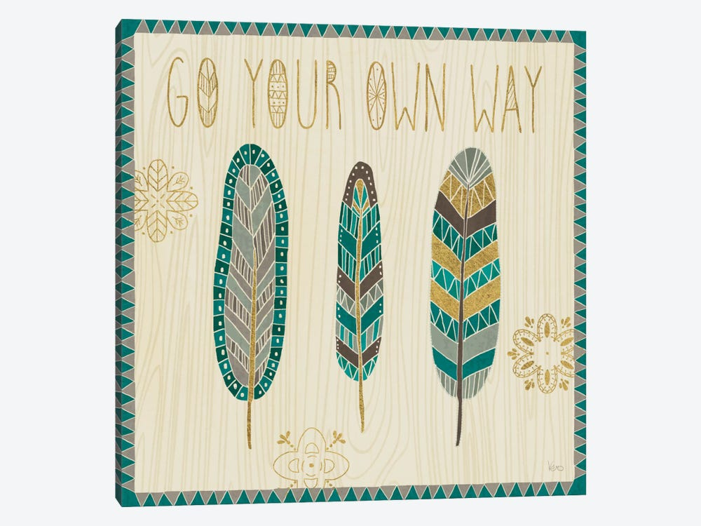 Cool Feathers III by Veronique Charron 1-piece Canvas Art Print