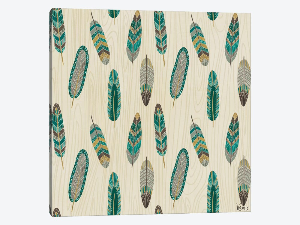 Cool Feathers: Step XI.A by Veronique Charron 1-piece Canvas Art Print