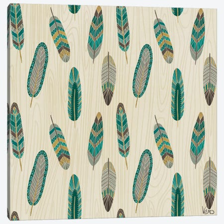 Cool Feathers: Step XI.A Canvas Print #WAC4094} by Veronique Charron Canvas Print