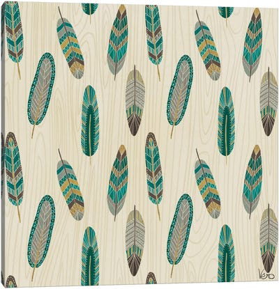 Cool Feathers: Step XI.A Canvas Art Print
