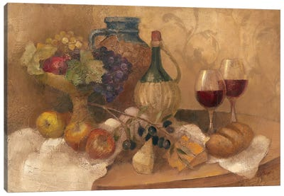 Abundant Table with Pattern Canvas Art Print