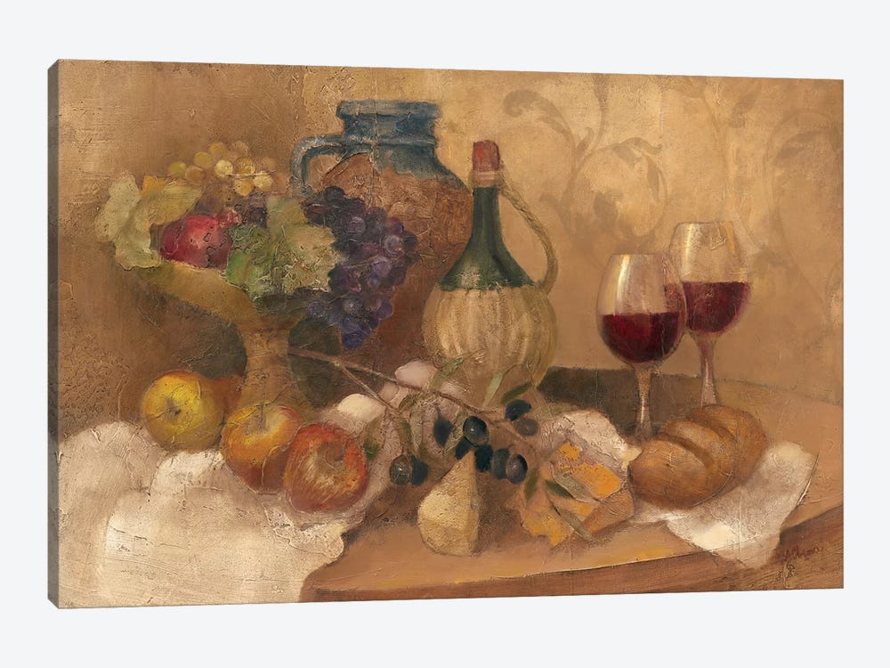 Abundant Table with Pattern 1-piece Canvas Art