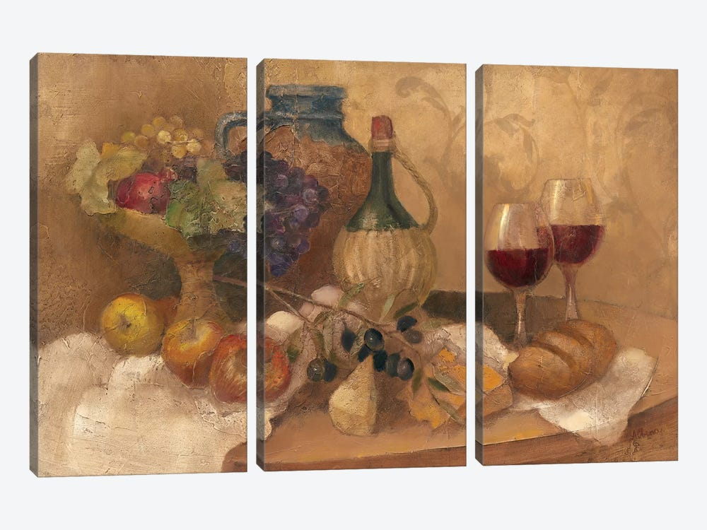 Abundant Table with Pattern 3-piece Canvas Artwork