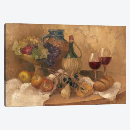 Abundant Table with Pattern Canvas Print #WAC40} by Albena Hristova Canvas Art Print