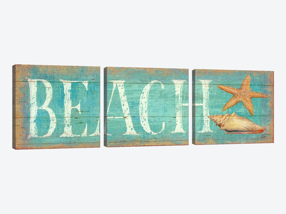 Pastel Beach by Daphne Brissonnet 3-piece Canvas Art