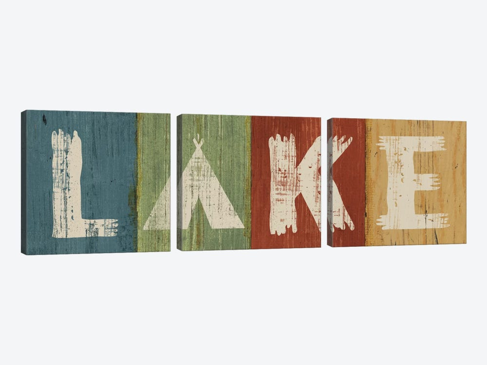 Lake Lodge V by Sue Schlabach 3-piece Canvas Art