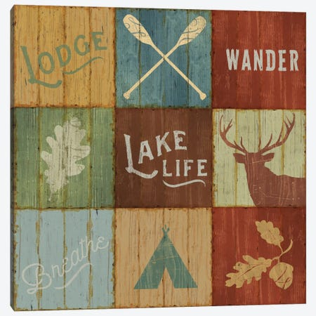 Lake Lodge VII Canvas Print #WAC4143} by Sue Schlabach Canvas Wall Art
