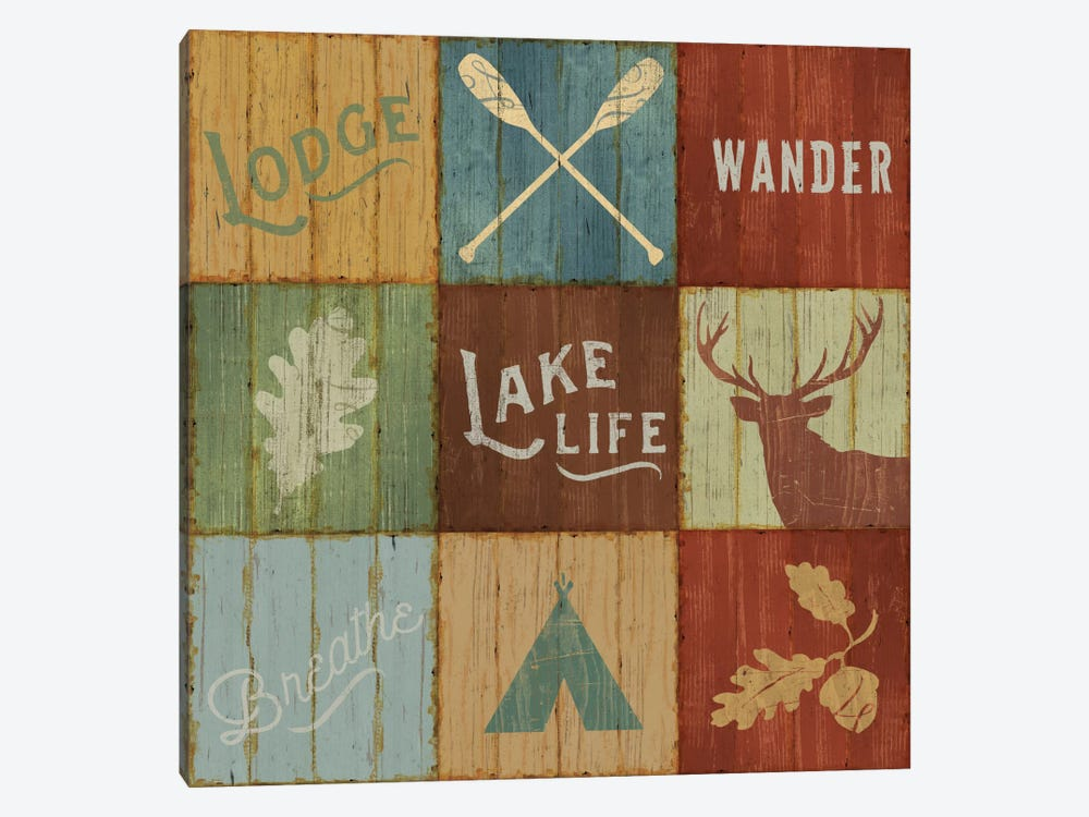 Lake Lodge VII by Sue Schlabach 1-piece Canvas Artwork