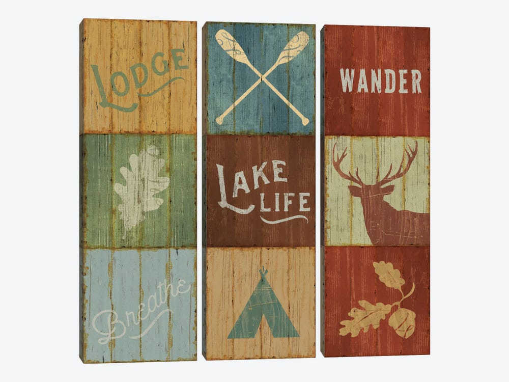 Lake Lodge VII by Sue Schlabach 3-piece Canvas Artwork