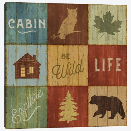 Lake Lodge VIII 3-Piece Canvas #WAC4144} by Sue Schlabach Art Print