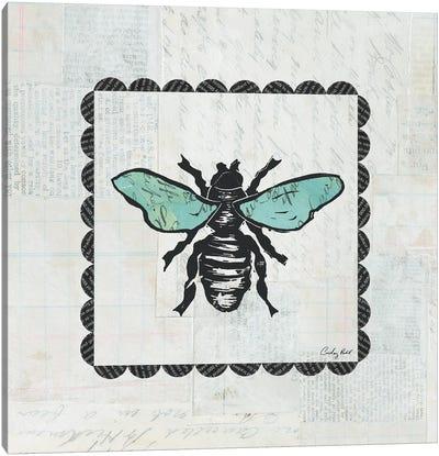 Bee Stamp Canvas Print #WAC4165