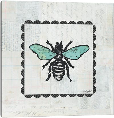 Bee Stamp Canvas Art Print