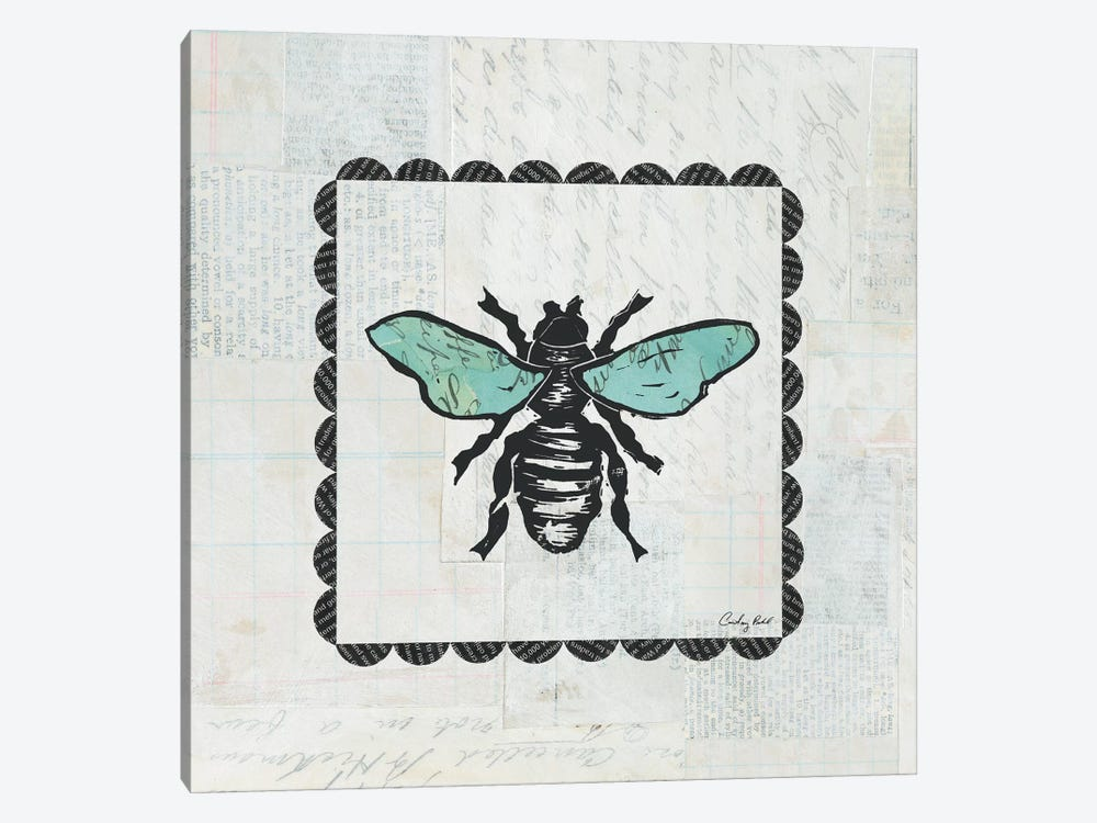 Bee Stamp 1-piece Canvas Artwork