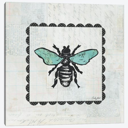Bee Stamp Canvas Print #WAC4165} by Courtney Prahl Canvas Print