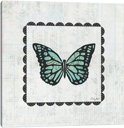 Butterfly Stamp Canvas Art Print