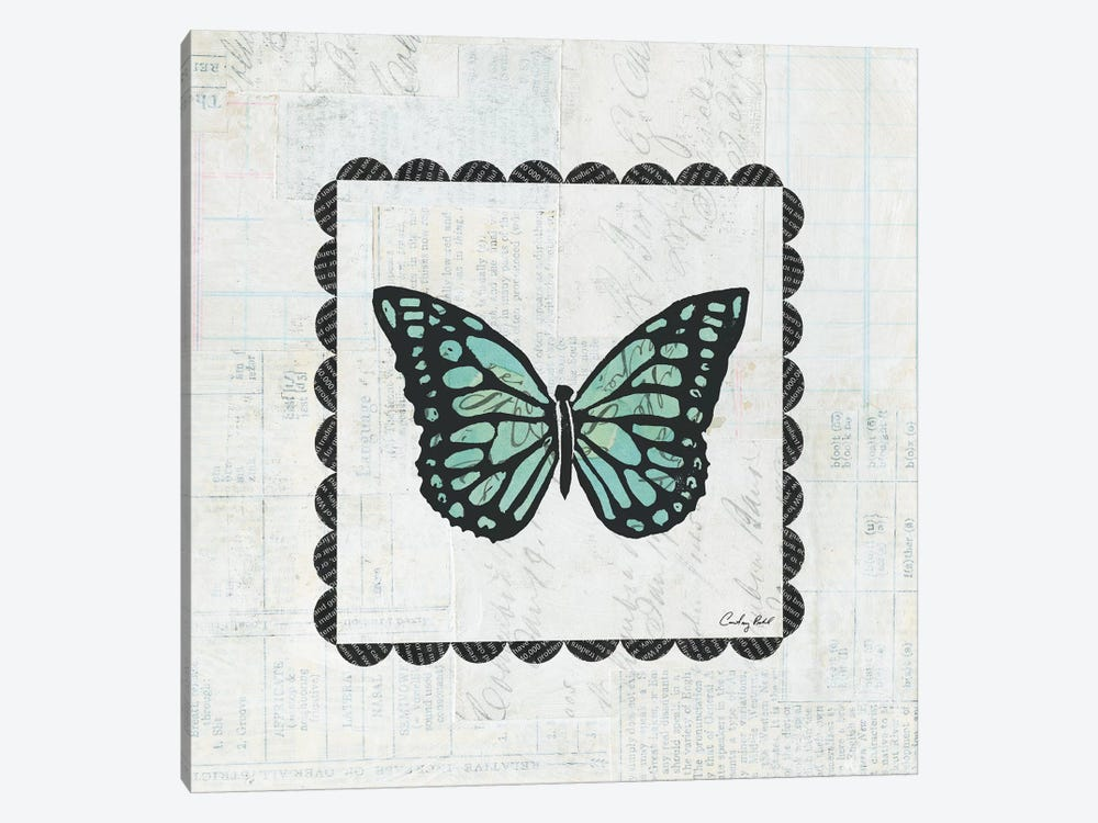 Butterfly Stamp by Courtney Prahl 1-piece Canvas Art Print