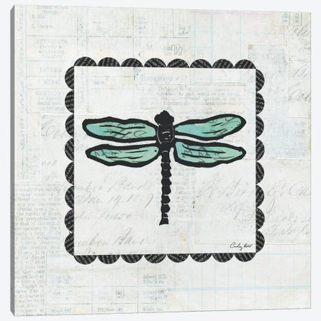 Dragonfly Stamp Canvas Print #WAC4167} by Courtney Prahl Art Print