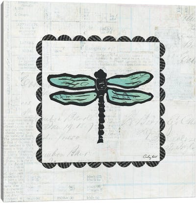 Dragonfly Stamp Canvas Art Print