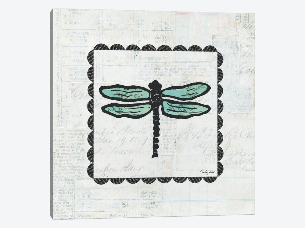 Dragonfly Stamp by Courtney Prahl 1-piece Canvas Art