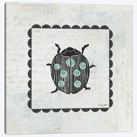 Ladybug Stamp Canvas Print #WAC4168} by Courtney Prahl Canvas Artwork