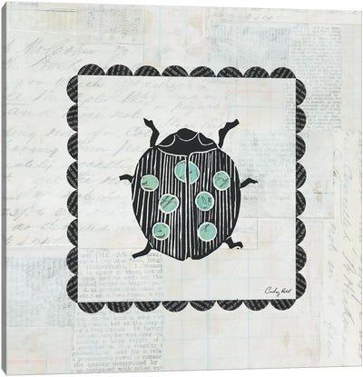 Ladybug Stamp Canvas Print #WAC4168