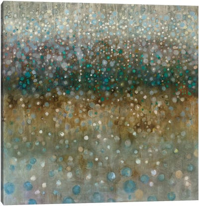 Abstract Rain Canvas Art Print