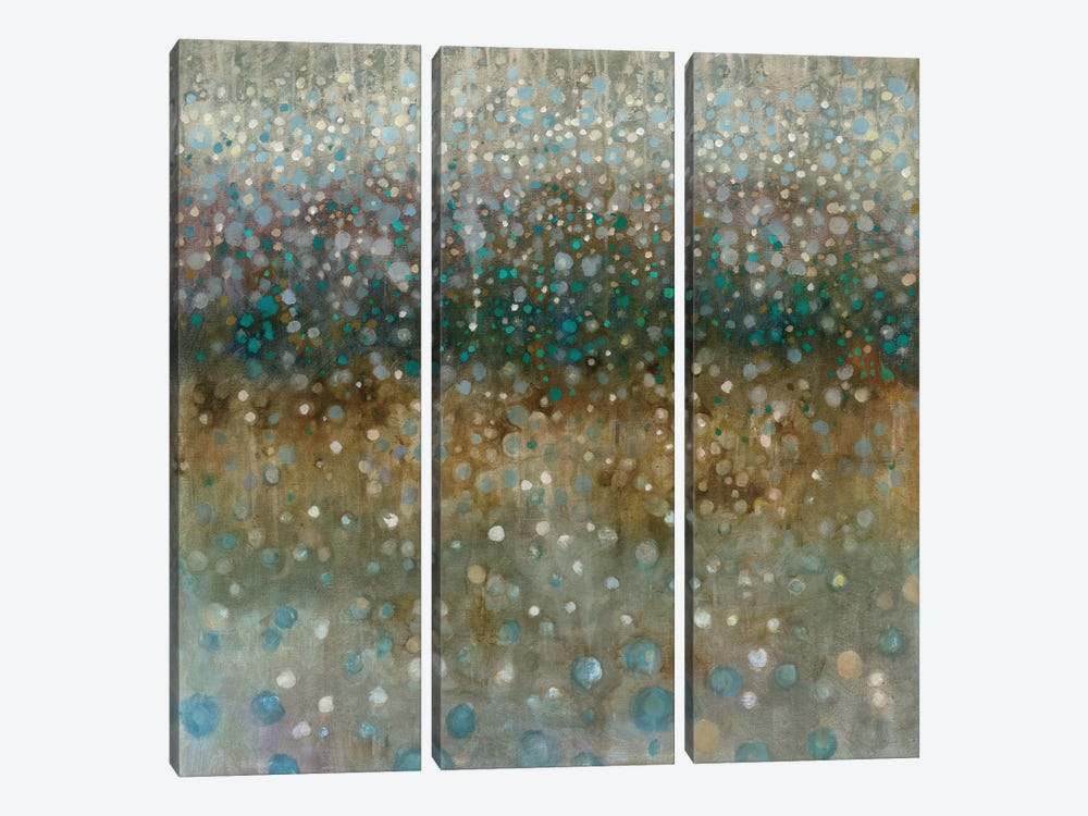 Abstract Rain by Danhui Nai 3-piece Canvas Wall Art