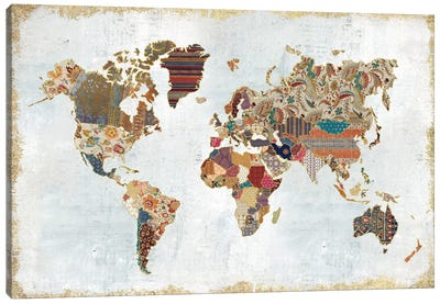 Pattern World Map Canvas Art Print