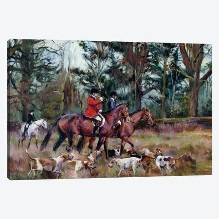 Foxhunt Canvas Print #WAC4178} by Marilyn Hageman Canvas Art Print