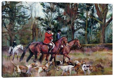 Foxhunt Canvas Art Print