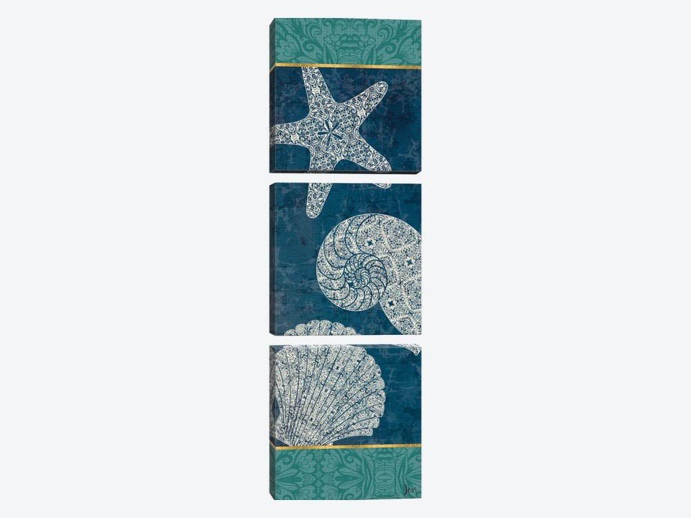 Coastal Lace IX by Jess Aiken 3-piece Canvas Artwork