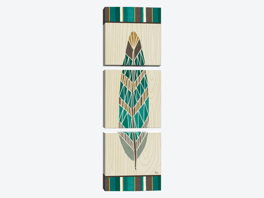 Cool Feathers VII by Veronique Charron 3-piece Canvas Wall Art