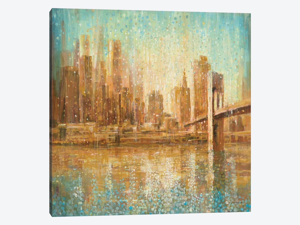 Champagne City by Danhui Nai 1-piece Canvas Art