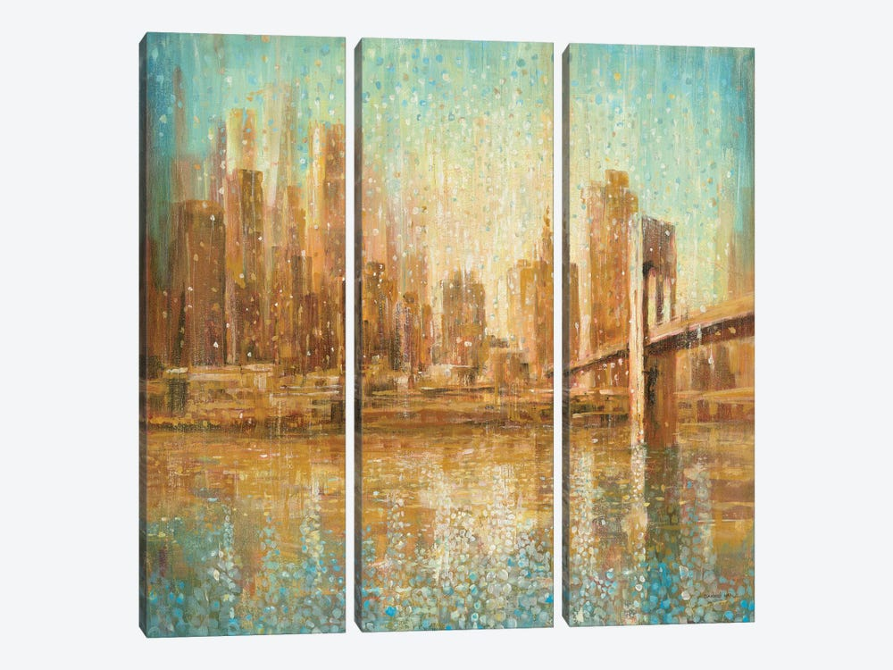 Champagne City by Danhui Nai 3-piece Canvas Wall Art