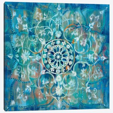 Mandala in Blue I Canvas Print #WAC4193} by Danhui Nai Art Print