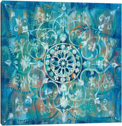 Mandala in Blue I Canvas Art Print